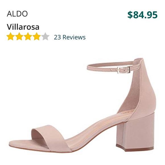 "b96cbc2db57 ALDO ""Villarosa"" nude light pink sandal block heel"